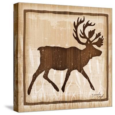 Elk-Jennifer Pugh-Stretched Canvas Print