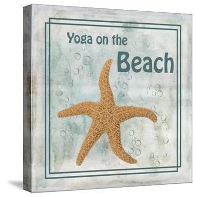 Yoga on the Beach-Ramona Murdock-Stretched Canvas Print