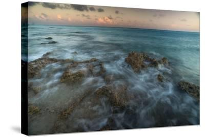 An Ocean View Off the Coast of Cat Island in the Bahamas at Sunset-Andy Mann-Stretched Canvas Print