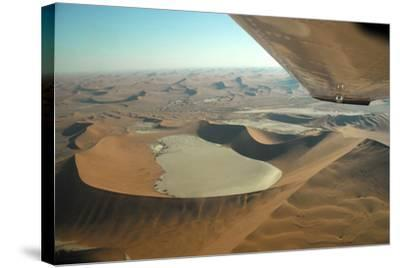 Aerial View of Sand Dunes of Namibia-Anne Keiser-Stretched Canvas Print