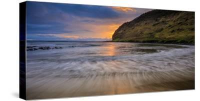 Halawa Beach on Molokai's East End-Richard A^ Cooke-Stretched Canvas Print