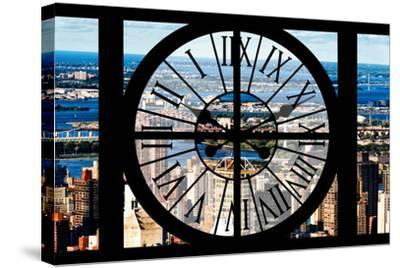 Giant Clock Window - View of Harlem - New York-Philippe Hugonnard-Stretched Canvas Print