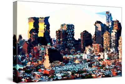 Low Poly New York Art - Hell's Kitchen Buildings-Philippe Hugonnard-Stretched Canvas Print
