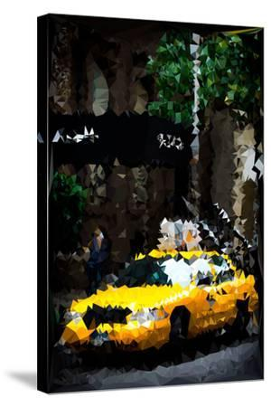 Low Poly New York Art - Traffic Light-Philippe Hugonnard-Stretched Canvas Print