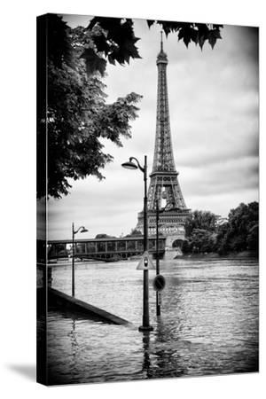 Paris sur Seine Collection - Traffic Light Panel-Philippe Hugonnard-Stretched Canvas Print