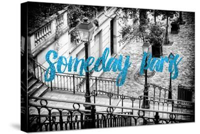 Paris Fashion Series - Someday Paris - Staircase of Montmartre IV-Philippe Hugonnard-Stretched Canvas Print