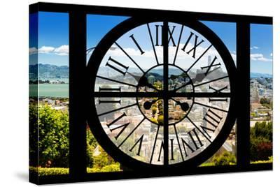 Giant Clock Window - View of the San Francisco City-Philippe Hugonnard-Stretched Canvas Print