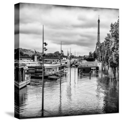 Paris sur Seine Collection - Morning on the Seine II-Philippe Hugonnard-Stretched Canvas Print
