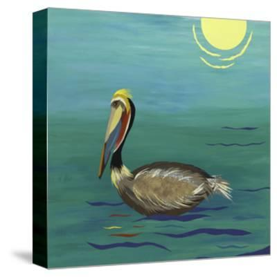 Pelican-Jennifer Peck-Stretched Canvas Print