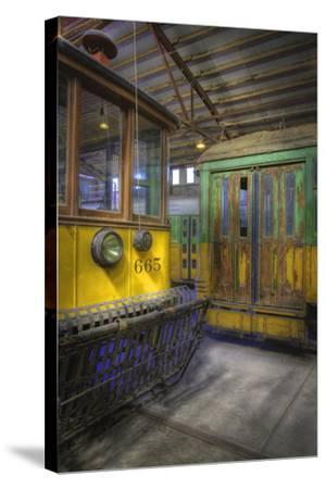 Los Angeles Railway Trolley #665-Robert Hansen-Stretched Canvas Print