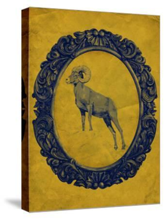 Framed Bighorn Sheep in Yellow-THE Studio-Stretched Canvas Print