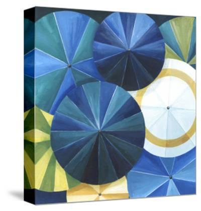 Blue Umbrella-Natasha Marie-Stretched Canvas Print