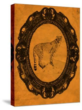 Framed Cheetah in Tangerine-THE Studio-Stretched Canvas Print
