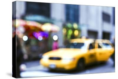 Lights of the City: Taxi-Arabella Studios-Stretched Canvas Print