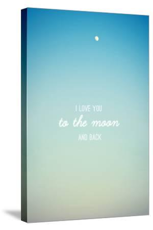 I Love you to the Moon and Back-Libertad Leal-Stretched Canvas Print