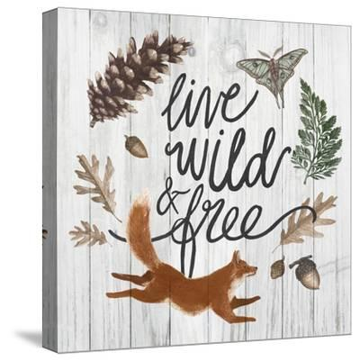 Live Wild and Free-Sara Zieve Miller-Stretched Canvas Print