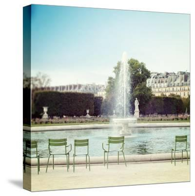Paris Moments V-Laura Marshall-Stretched Canvas Print