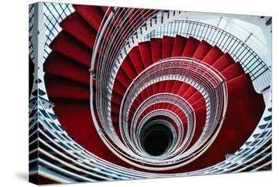 Spiral Staircase, Nordic Style and Design Hilton Reykjavik Iceland-Vincent James-Stretched Canvas Print