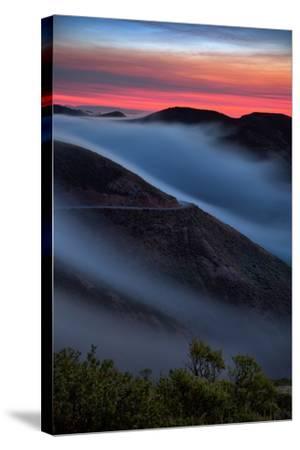 Morning Sunrise Fog Sweep, Marin Headlands, Northern California-Vincent James-Stretched Canvas Print