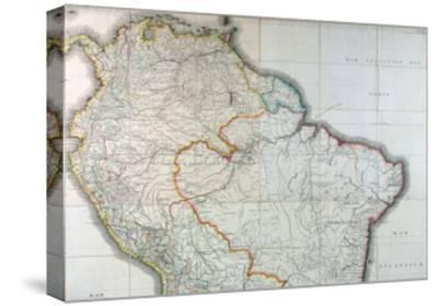 Mapa Geografico de America Meridional, 1799-Juan de la Cruz Cano y Olmedilla-Stretched Canvas Print