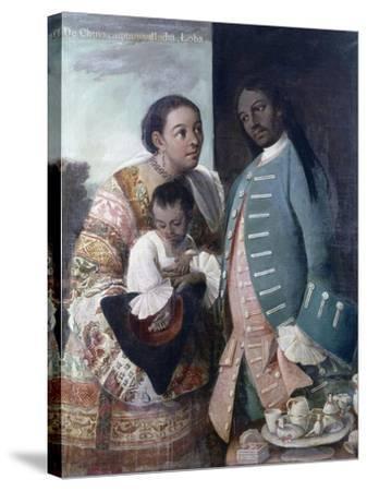 Mestizaje: de Chino Cambujo E India: Loba, 1763, Museo de América, Madrid-Miguel Cabrera-Stretched Canvas Print