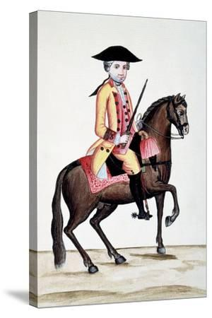 Codice Trujillo Del Perú. T.I. Personaje a Caballo, Palacio Real, Madrid-Baltasar Jaime Martínez Compañón-Stretched Canvas Print