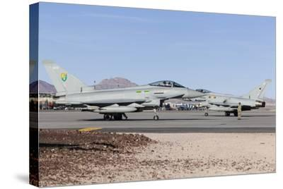 Two Royal Air Force Typhoon Fighters on the Ramp at Nellis Air Force Base, Nevada-Stocktrek Images-Stretched Canvas Print