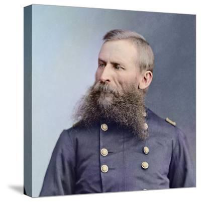 Civil War Portrait of General George Crook-Stocktrek Images-Stretched Canvas Print