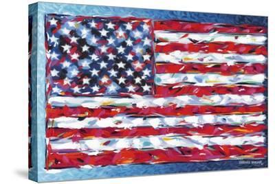 Vibrant Stars and Stripes-Carolee Vitaletti-Stretched Canvas Print