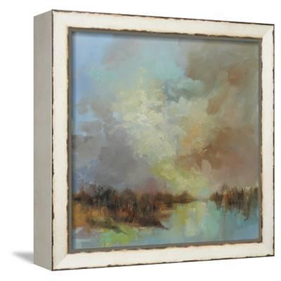 Jewelled Riverbank-Anne Farrall Doyle-Framed Stretched Canvas Print