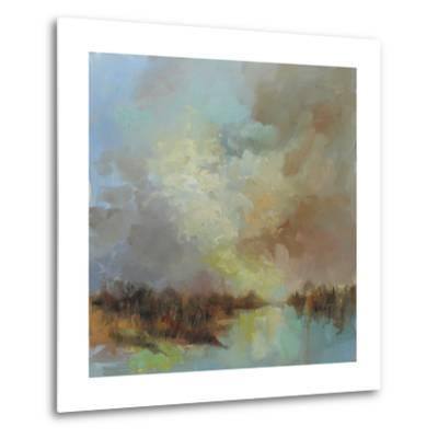 Jewelled Riverbank-Anne Farrall Doyle-Metal Print