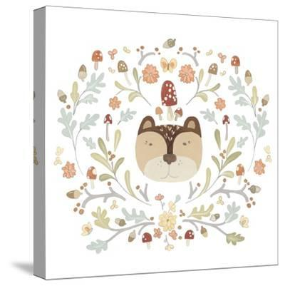 Whimsical Woodland Faces I-June Vess-Stretched Canvas Print