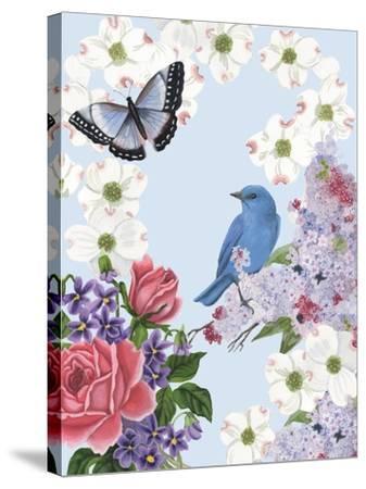 Bird Garden I-Naomi McCavitt-Stretched Canvas Print