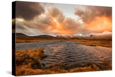 Golden Sunrise at Loch Ba in Glencoe, Scotland Uk-Tracey Whitefoot-Stretched Canvas Print