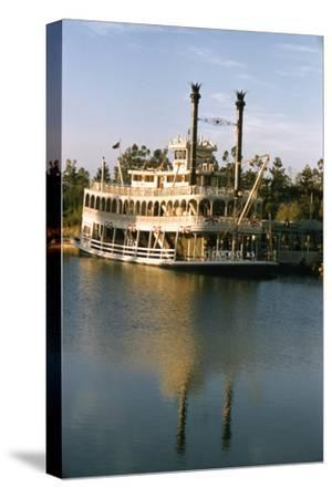 July 17 1955: Disneyland's Mark Twain River Boat, Anaheim, California-Loomis Dean-Stretched Canvas Print