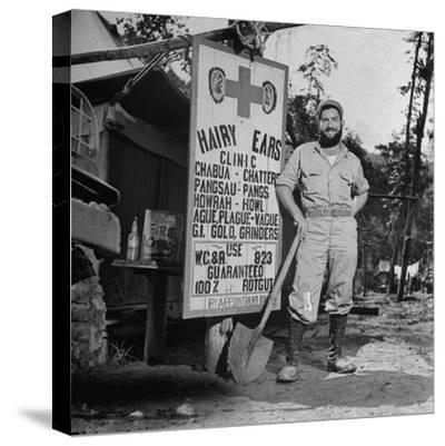 Portrait of Us Army Worker Ferdinand a Robichaux, Burma, July 1944-Bernard Hoffman-Stretched Canvas Print