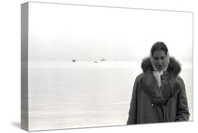 Carol Hall at Seattle's Fisherman's Wharf on a Misty Morning, Puget Sound, Seattle, Washington-Allan Grant-Stretched Canvas Print