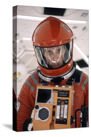 """Actor Keir Dullea in Space Suit in Scene from Motion Picture """"2001: a Space Odyssey."""", 1968-Dmitri Kessel-Stretched Canvas Print"""