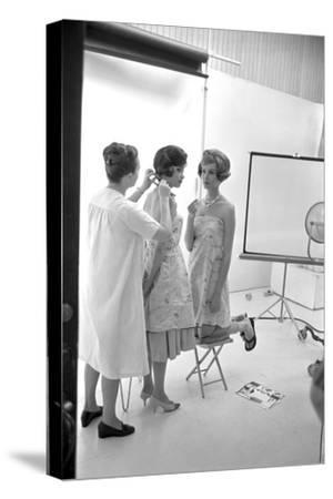 "Unidentified Model Shoot. Part of Allan Grant's Series ""The Golden Girls of the West"", 1960-Allan Grant-Stretched Canvas Print"