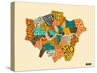 London Boroughs-Jazzberry Blue-Stretched Canvas Print