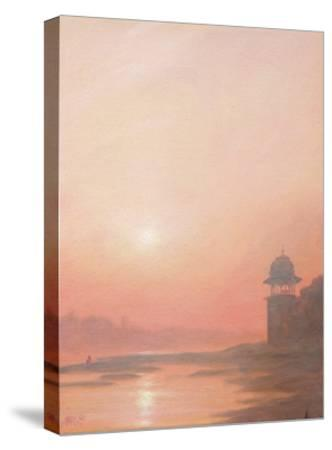 Evening on the Yamuna-Derek Hare-Stretched Canvas Print