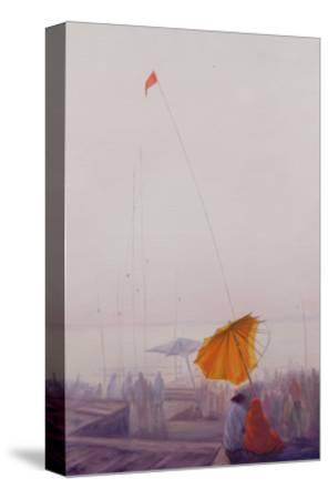 Early Morning, Varanasi-Derek Hare-Stretched Canvas Print