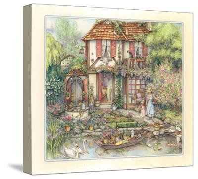 Riverside Cottage-Kim Jacobs-Stretched Canvas Print