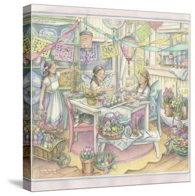 Easter Party-Kim Jacobs-Stretched Canvas Print