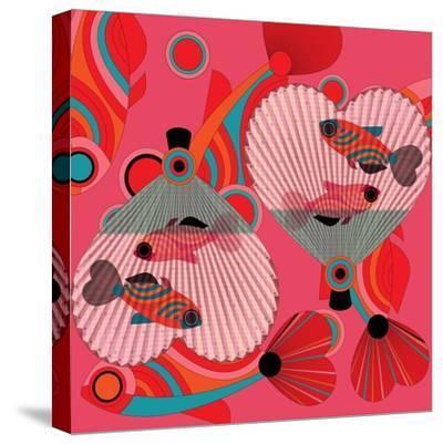 Nature Fan, Fish Color-Belen Mena-Stretched Canvas Print
