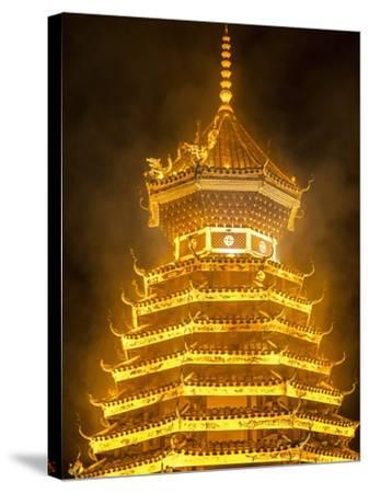 Drum Tower in Guizhou, China-Tino Soriano-Stretched Canvas Print