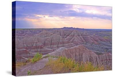Rocky Landscape of Badlands National Park in South Dakota, Usa-Donna O'Meara-Stretched Canvas Print