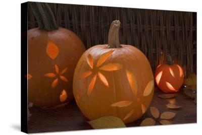Atmospheric Pumpkin Lanterns-Foodcollection-Stretched Canvas Print