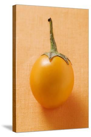 Yellow Baby Aubergine-Foodcollection-Stretched Canvas Print