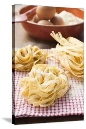 Three Ribbon Pasta Nests-Foodcollection-Stretched Canvas Print